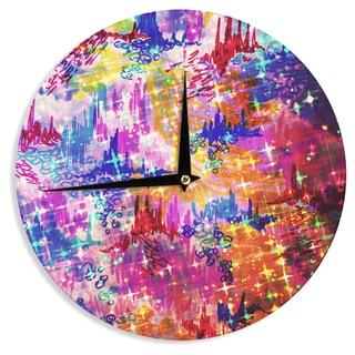 KESS InHouse Ebi Emporium 'Sky Risers' Glam Pink Wall Clock