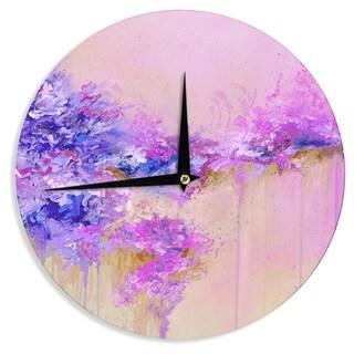 KESS InHouse Ebi Emporium 'When Land Met Sky 2' Purple Pink Wall Clock