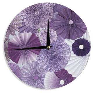 KESS InHouseHeidi Jennings 'Lavender Wishes' Purple Wall Clock