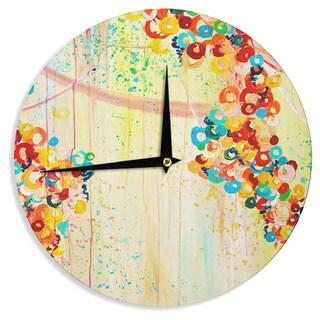 KESS InHouse Ebi Emporium 'Summer in Bloom' Wall Clock