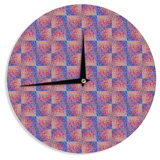 KESS InHouse Ebi Emporium 'Splash Revisited' Maroon Blue Wall Clock