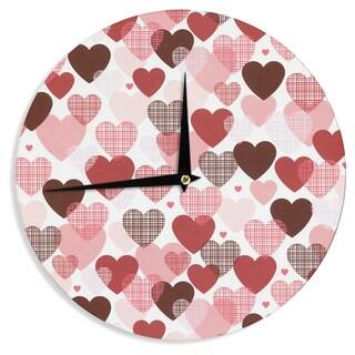 KESS InHouseHeidi Jennings 'Love' Pink Red Wall Clock