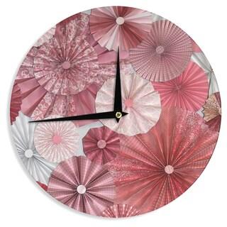 KESS InHouseHeidi Jennings 'Lovesick' Pink Wall Clock