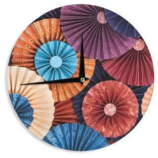 KESS InHouseHeidi Jennings 'Moroccan' Multicolor Wall Clock