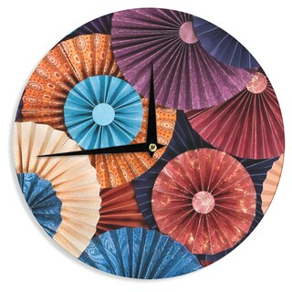 KESS InHouseHeidi Jennings 'Moroccan' Multicolor Wall Clock