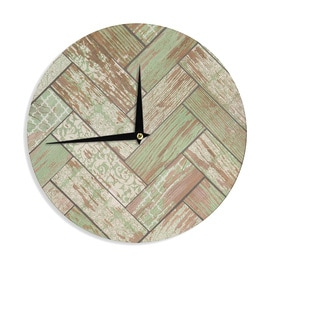 KESS InHouseHeidi Jennings 'Patina' Green Wood Wall Clock
