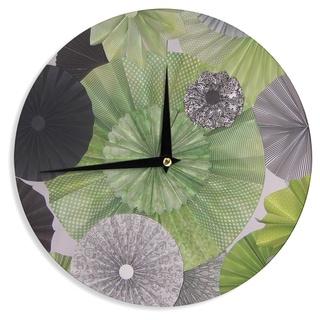 KESS InHouseHeidi Jennings 'Serenity' Green Grey Wall Clock