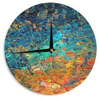 KESS InHouse Ebi Emporium 'Eternal Tide II' Teal Orange Wall Clock
