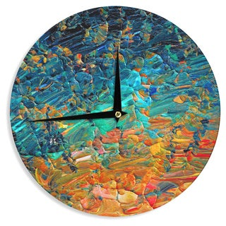 KESS InHouse Ebi Emporium 'Eternal Tide II' Teal Orange Wall Clock