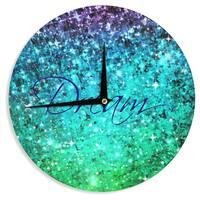 KESS InHouse Ebi Emporium 'Dream' Blue Teal Wall Clock