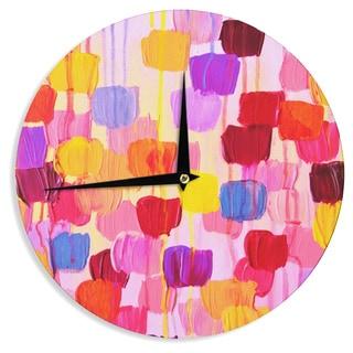 KESS InHouse Ebi Emporium 'Dotty in Pink' Wall Clock