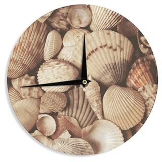 KESS InHouseHeidi Jennings 'Shells' Brown Wall Clock
