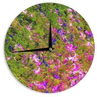 KESS InHouse Ebi Emporium 'Beyond the Horizon' Pink Green Wall Clock