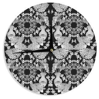 KESS InHouse DLKG Design 'Versailles Black' Wall Clock