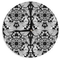 KESS InHouse DLKG Design 'Versailles Black' Wall Clock
