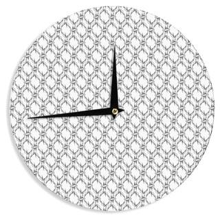 KESS InHouse DLKG Design 'Deer Deer' Wall Clock