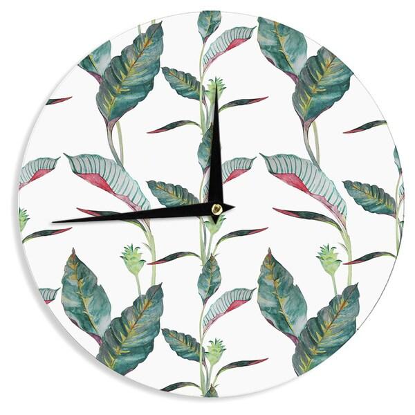 KESS InHouse DLKG Design 'Ana' Black Olive Wall Clock