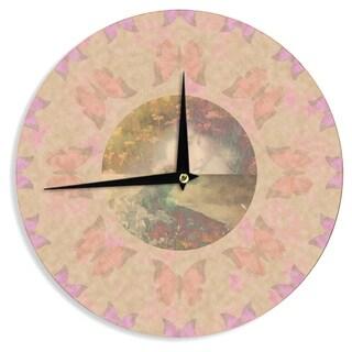 KESS InHouse Deepti Munshaw 'Rebirth' Butterfly Circle Wall Clock