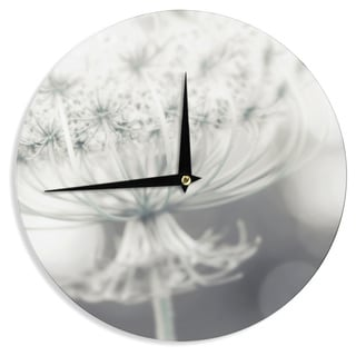 KESS InHouse Debbra Obertanec 'Queen' White Flower Wall Clock