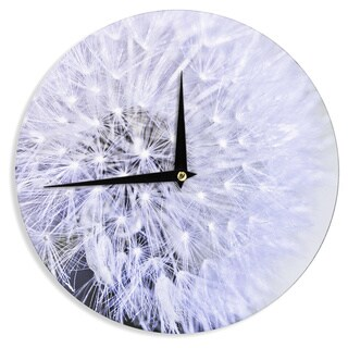 KESS InHouse Debbra Obertanec 'Lavender Wish' Purple Flower Wall Clock