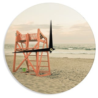 KESS InHouse Debbra Obertanec 'Dusk At the Beach' Ocean Wall Clock