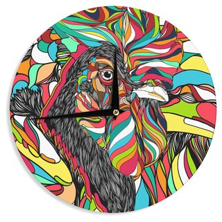 KESS InHouse Danny Ivan 'Tropical Cock' Wall Clock