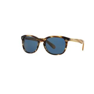 Burberry Men's BE4214 355180 Brown Horn Plastic Square Sunglasses w/ 55mm Lens