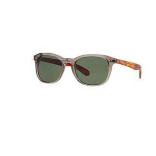 Burberry Men's BE4214 355271 Smoke Grey Plastic Square Sunglasses w/ 55mm Lens