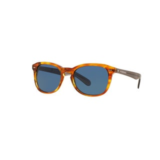 Burberry Men's BE4214F 355080 Amber Horn Plastic Square Sunglasses w/ 55mm Lens
