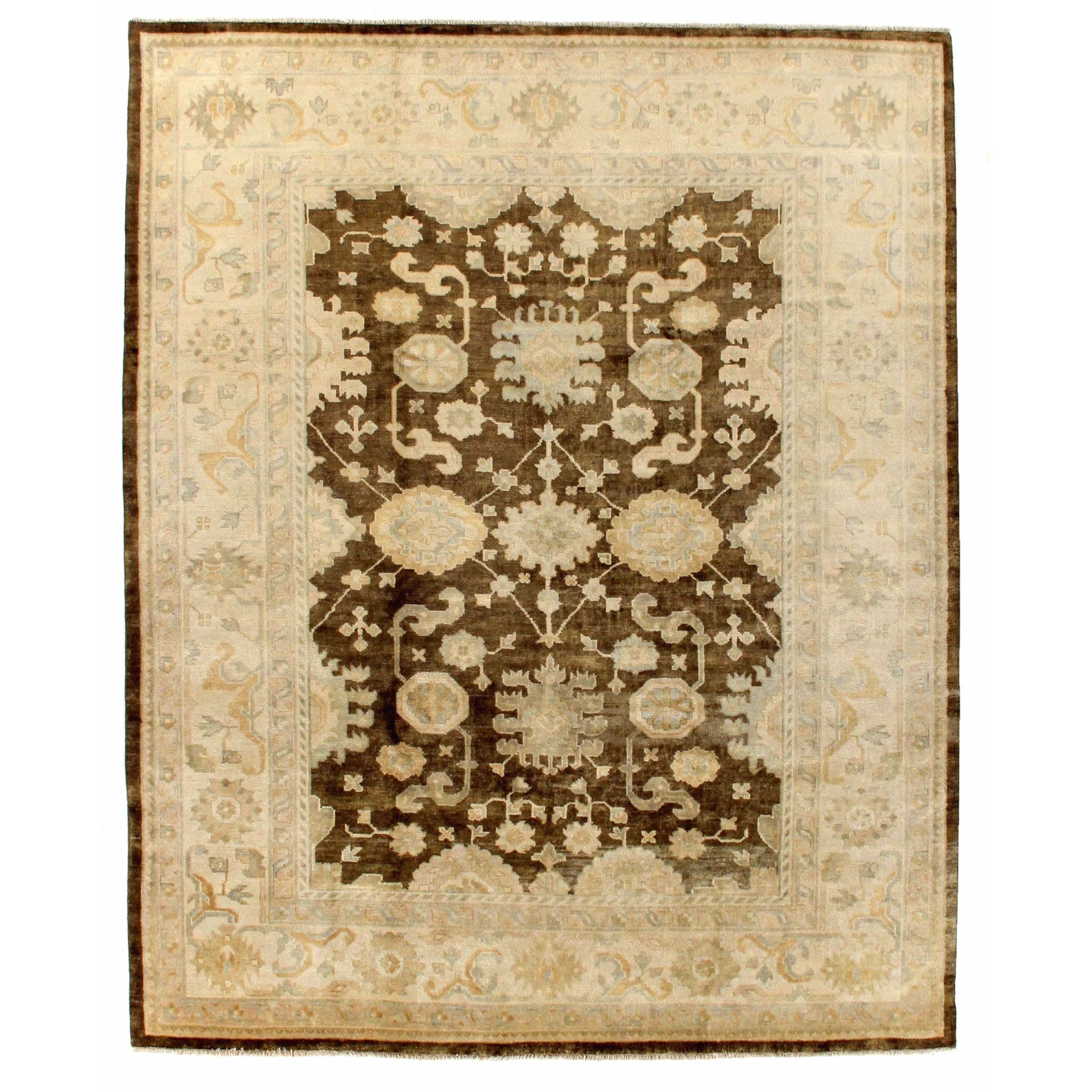 Exquisite Rugs Turkish Oushak Brown / Ivory New Zealand W...