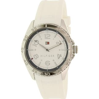 Tommy Hilfiger Women's 1781635 Lizzie White Silicone Quartz Watch|https://ak1.ostkcdn.com/images/products/12442135/P19257206.jpg?impolicy=medium