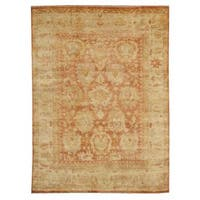Exquisite Rugs Turkish Oushak Red / Beige New Zealand Wool Rug (9' x 12') - 9' x 12'