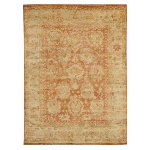 Exquisite Rugs Turkish Oushak Red / Beige New Zealand Wool Rug - 8' x 10'