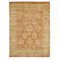 Exquisite Rugs Turkish Oushak Red / Beige New Zealand Wool Rug (8' x 10') - 8' x 10'