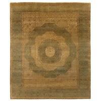 Exquisite Rugs Tabriz Gold / Grey New Zealand Wool Rug (8' x 10') - 8' x 10'