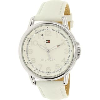 Tommy Hilfiger Women's Casey 1781652 White Leather Quartz Watch|https://ak1.ostkcdn.com/images/products/12442153/P19257213.jpg?impolicy=medium
