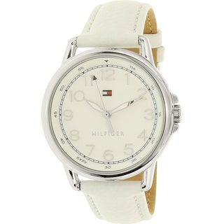Tommy Hilfiger Women's Casey 1781652 White Leather Quartz Watch