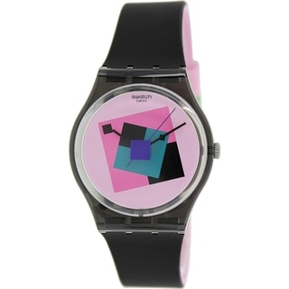 Swatch Women's Originals GA109 Black Rubber Swiss Quartz Watch