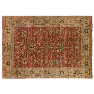 Exquisite Rugs Serapi Rust / Gold New Zealand Wool Rug (8' x 10')