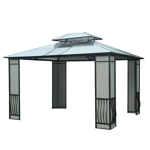 Marvelous Sunjoy Madison Polycarbonate Top 10 Feet X 12 Feet Gazebo