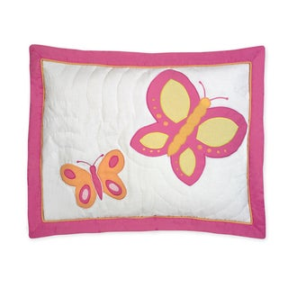 Pink and Orange Butterfly Collection Standard Pillow Sham by Sweet Jojo Designs