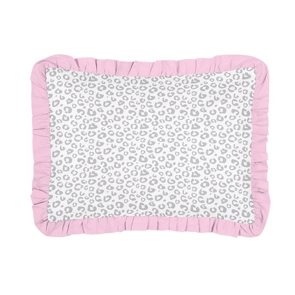 Pink and Gray Kenya Collection Standard Pillow Sham by Sweet Jojo Designs