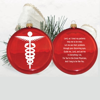 3-1/2-inch Doctor's Prayer Glass Disc Ornament