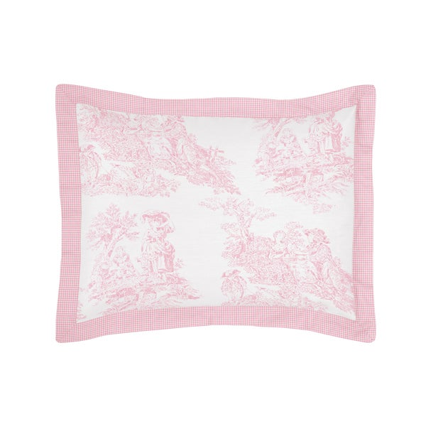 Pink French Toile Collection Standard Pillow Sham by Sweet Jojo Designs