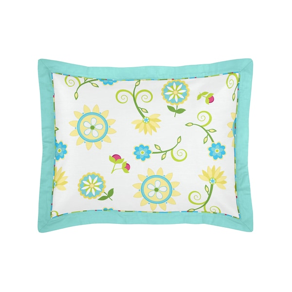 Sweet Jojo Designs Layla Collection Standard Pillow Sham