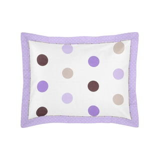 Sweet Jojo Designs Purple and Chocolate Mod Dots Collection Standard Pillow Sham