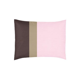 Sweet Jojo Designs Soho Pink and Brown Collection Standard Pillow Sham