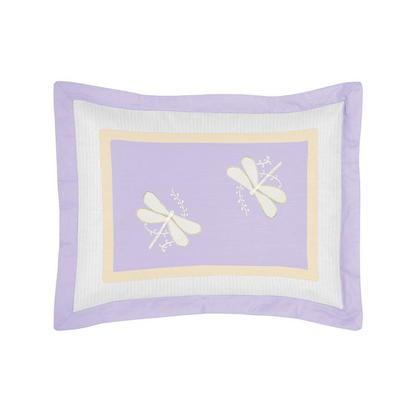 Sweet Jojo Designs Purple Dragonfly Dreams Collection Standard Pillow Sham