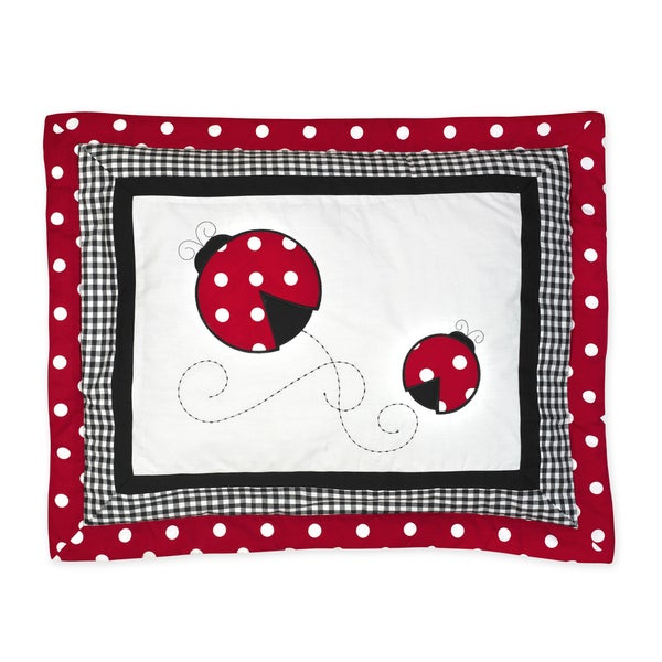 Sweet Jojo Designs Polka Dot Ladybug Collection Standard Pillow Sham