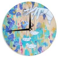 KESS InHouseKira Crees 'Origami Strings' Wall Clock